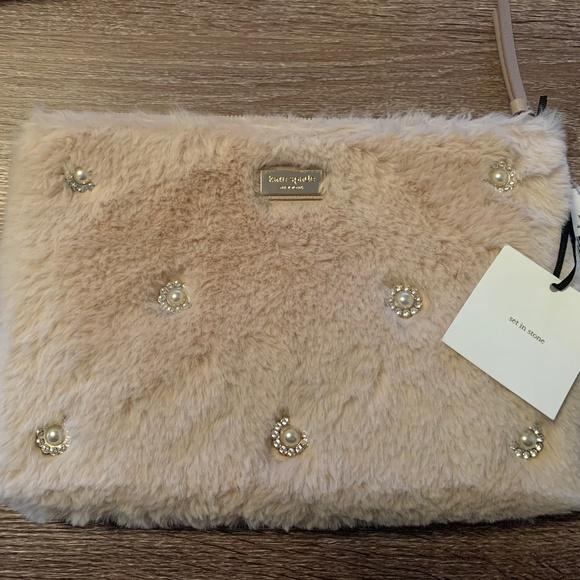kate spade Handbags - Kate Spade Blush Fur Clutch